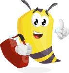 Bee Cartoon Vector Character AKA Mr. Bee Busy - Travel 2