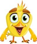 Simple Style Bird Cartoon Vector Character AKA Birdy Eyebrows - Normal