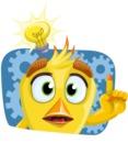 Simple Style Bird Cartoon Vector Character AKA Birdy Eyebrows - Shape 4