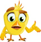Simple Style Bird Cartoon Vector Character AKA Birdy Eyebrows - Lost 2