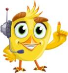 Simple Style Bird Cartoon Vector Character AKA Birdy Eyebrows - Support