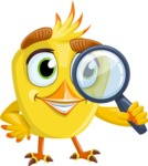 Simple Style Bird Cartoon Vector Character AKA Birdy Eyebrows - Search