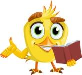 Simple Style Bird Cartoon Vector Character AKA Birdy Eyebrows - Book