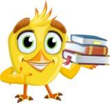 Simple Style Bird Cartoon Vector Character AKA Birdy Eyebrows - Books