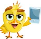 Simple Style Bird Cartoon Vector Character AKA Birdy Eyebrows - iPhone