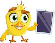 Simple Style Bird Cartoon Vector Character AKA Birdy Eyebrows - iPad 1