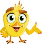 Simple Style Bird Cartoon Vector Character AKA Birdy Eyebrows - Showcase