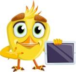 Simple Style Bird Cartoon Vector Character AKA Birdy Eyebrows - iPad 2