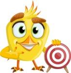 Simple Style Bird Cartoon Vector Character AKA Birdy Eyebrows - Target