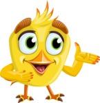 Simple Style Bird Cartoon Vector Character AKA Birdy Eyebrows - Showcase 2
