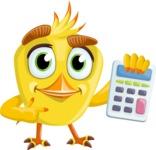 Simple Style Bird Cartoon Vector Character AKA Birdy Eyebrows - Calculator