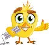 Simple Style Bird Cartoon Vector Character AKA Birdy Eyebrows - Keyboard