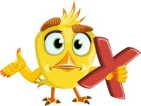 Simple Style Bird Cartoon Vector Character AKA Birdy Eyebrows - Delete