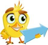 Simple Style Bird Cartoon Vector Character AKA Birdy Eyebrows - Pointer 1