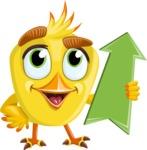 Simple Style Bird Cartoon Vector Character AKA Birdy Eyebrows - Pointer 3
