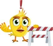 Simple Style Bird Cartoon Vector Character AKA Birdy Eyebrows - Construction 2