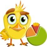 Simple Style Bird Cartoon Vector Character AKA Birdy Eyebrows - Chart
