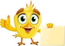Simple Style Bird Cartoon Vector Character AKA Birdy Eyebrows - Presentation 3