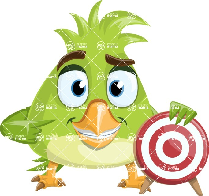 Parrot Cartoon Vector Character AKA Collin Feathers - Target