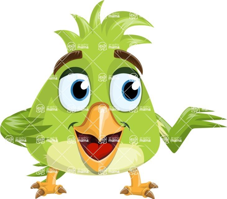 Parrot Cartoon Vector Character AKA Collin Feathers - Showcase 2