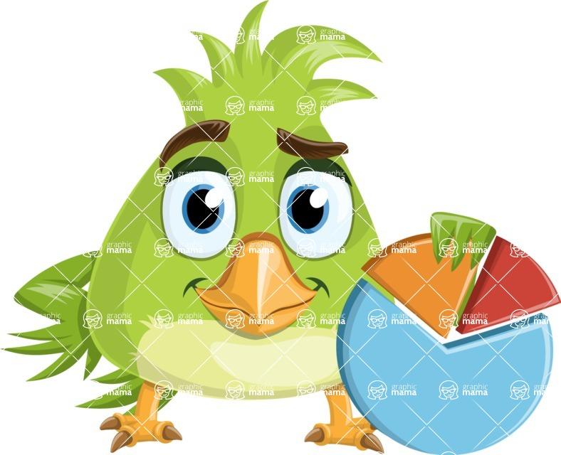Parrot Cartoon Vector Character AKA Collin Feathers - Chart