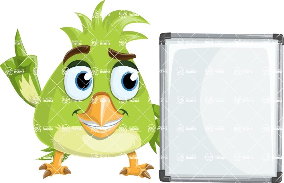 Parrot Cartoon Vector Character AKA Collin Feathers - Presentation 1