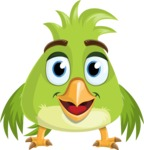 Parrot Cartoon Vector Character AKA Collin Feathers - Normal