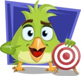 Parrot Cartoon Vector Character AKA Collin Feathers - Shape 10