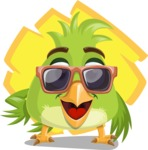 Parrot Cartoon Vector Character AKA Collin Feathers - Shape 11