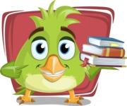 Parrot Cartoon Vector Character AKA Collin Feathers - Shape 12