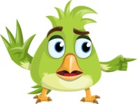 Parrot Cartoon Vector Character AKA Collin Feathers - Direct Attention 2