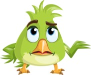Parrot Cartoon Vector Character AKA Collin Feathers - Roll Eyes