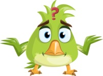 Parrot Cartoon Vector Character AKA Collin Feathers - Lost