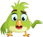 Parrot Cartoon Vector Character AKA Collin Feathers - Lost 2