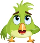 Parrot Cartoon Vector Character AKA Collin Feathers - Oops