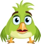 Parrot Cartoon Vector Character AKA Collin Feathers - Blank