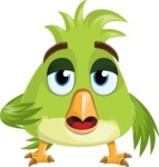 Parrot Cartoon Vector Character AKA Collin Feathers - Bored 2