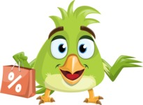 Parrot Cartoon Vector Character AKA Collin Feathers - Sale