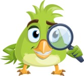 Parrot Cartoon Vector Character AKA Collin Feathers - Search