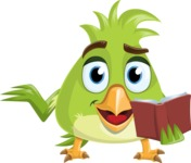 Parrot Cartoon Vector Character AKA Collin Feathers - Book