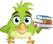 Parrot Cartoon Vector Character AKA Collin Feathers - Books