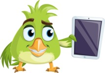Parrot Cartoon Vector Character AKA Collin Feathers - iPad 1