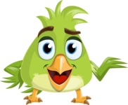 Parrot Cartoon Vector Character AKA Collin Feathers - Showcase