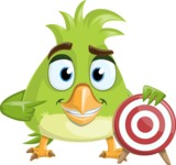 Parrot Cartoon Vector Character AKA Collin Feathers - Target