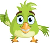 Parrot Cartoon Vector Character AKA Collin Feathers - Show 2