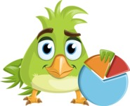 Parrot Cartoon Vector Character AKA Collin Feathers - Chart