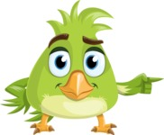 Parrot Cartoon Vector Character AKA Collin Feathers - Point