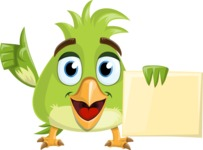 Parrot Cartoon Vector Character AKA Collin Feathers - Presentation 3