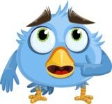Fluffy Bird Cartoon Vector Character AKA RoBird Plumage - Oops