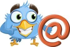 Fluffy Bird Cartoon Vector Character AKA RoBird Plumage - Email